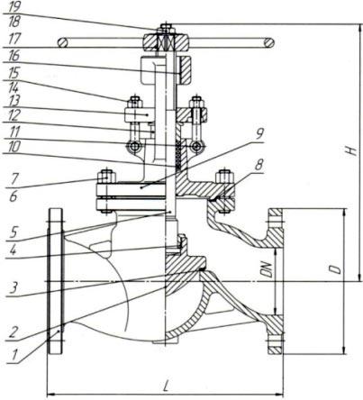 15нж65нж клапан запорный