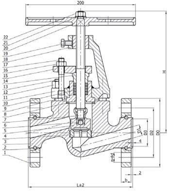 15с52нж9 - клапан запорный сальниковый