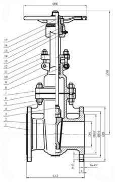 30нж41нж задвижка клиновая фланцевая с выдвижным шпинделем